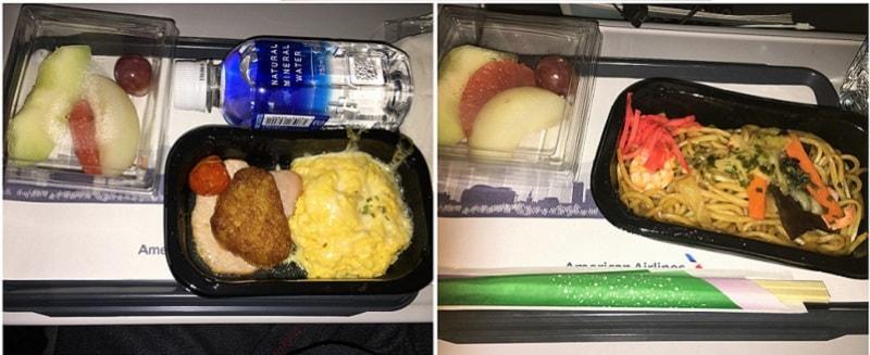 アメリカン航空 機内食